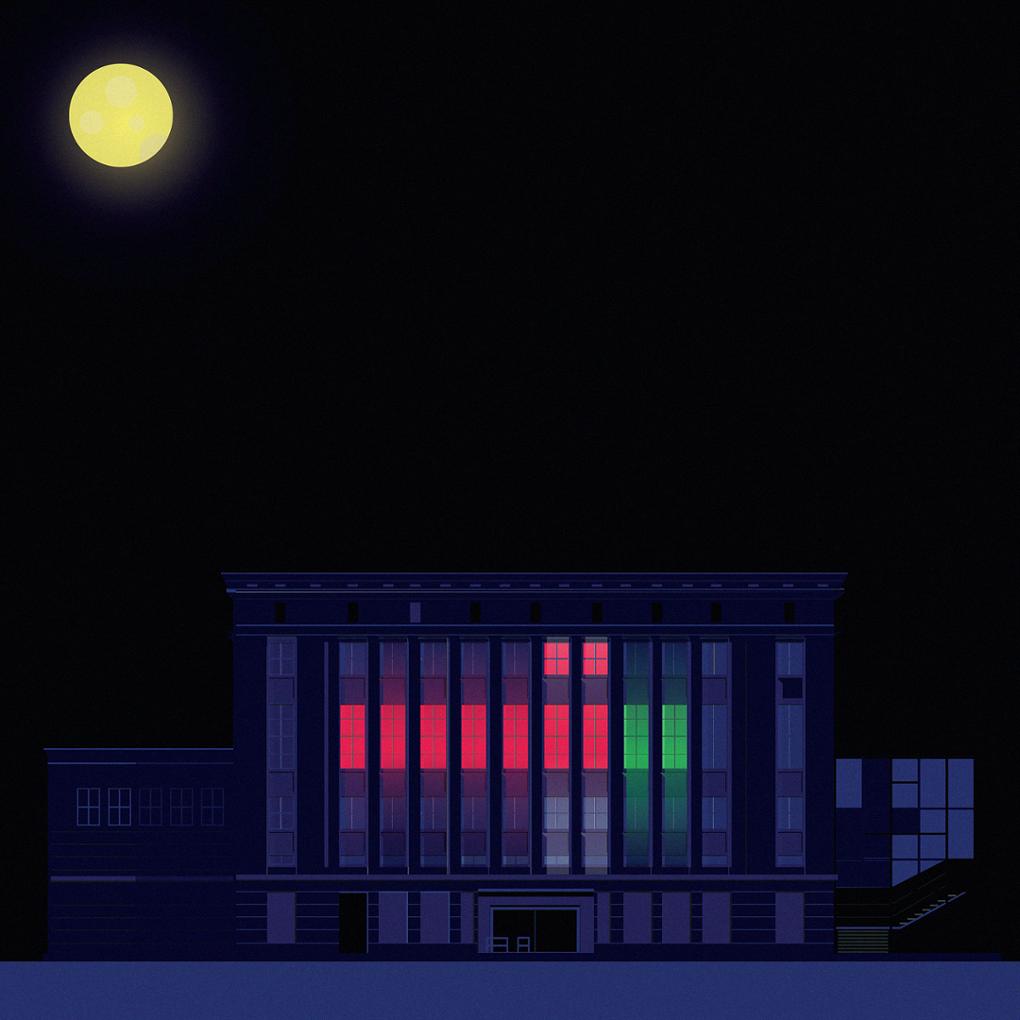 Berghain de noche