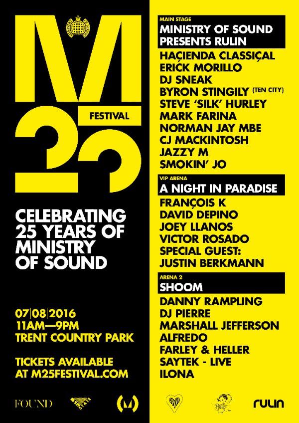 25 aniversario Ministry of Sound