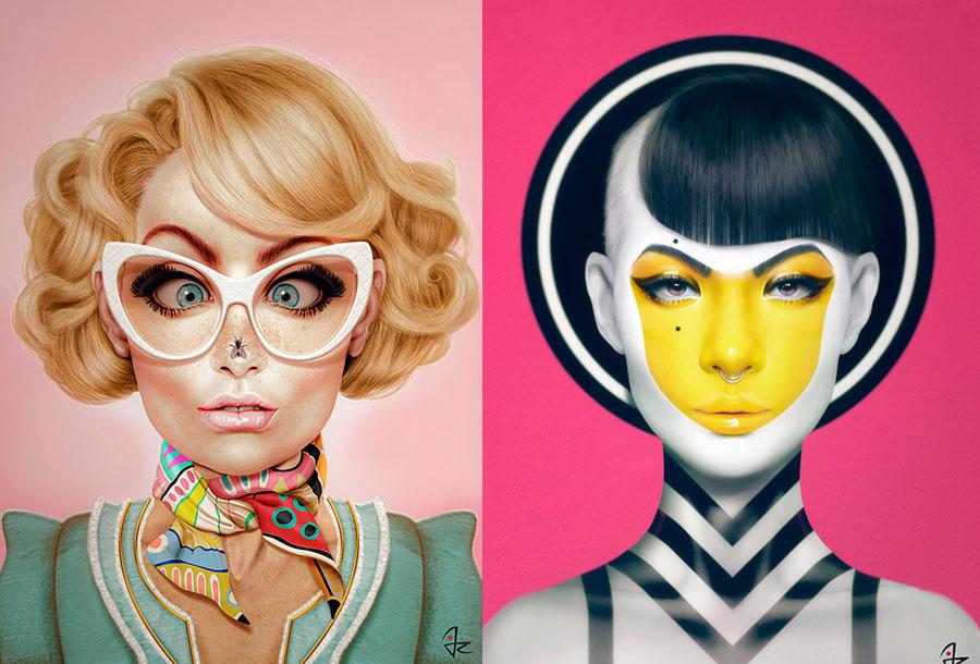 Las pinturas digitales de Giulio Rossi