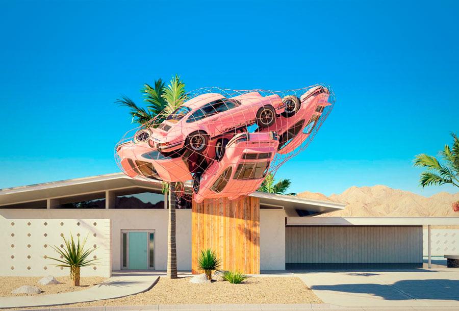 Tributo surrealista al mítico Porsche 911