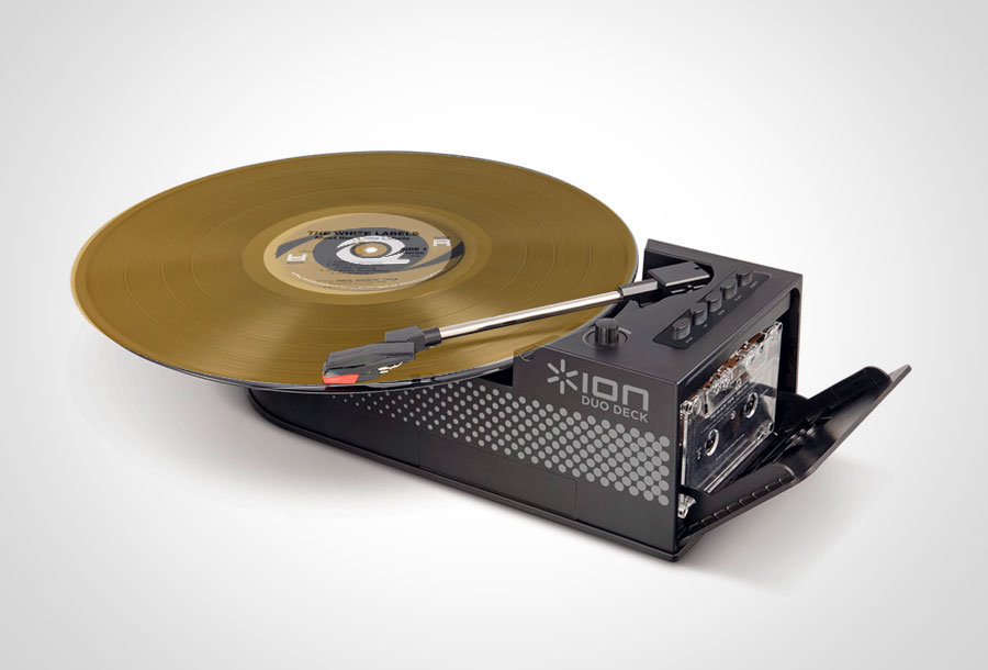 <em>Ion Duo Deck</em>: El tocadiscos portátil con cassette