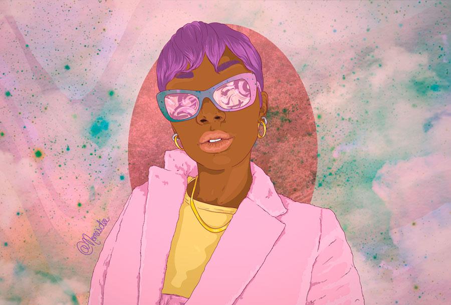 Las ilustraciones Afrofuturistas de Nomes Dee