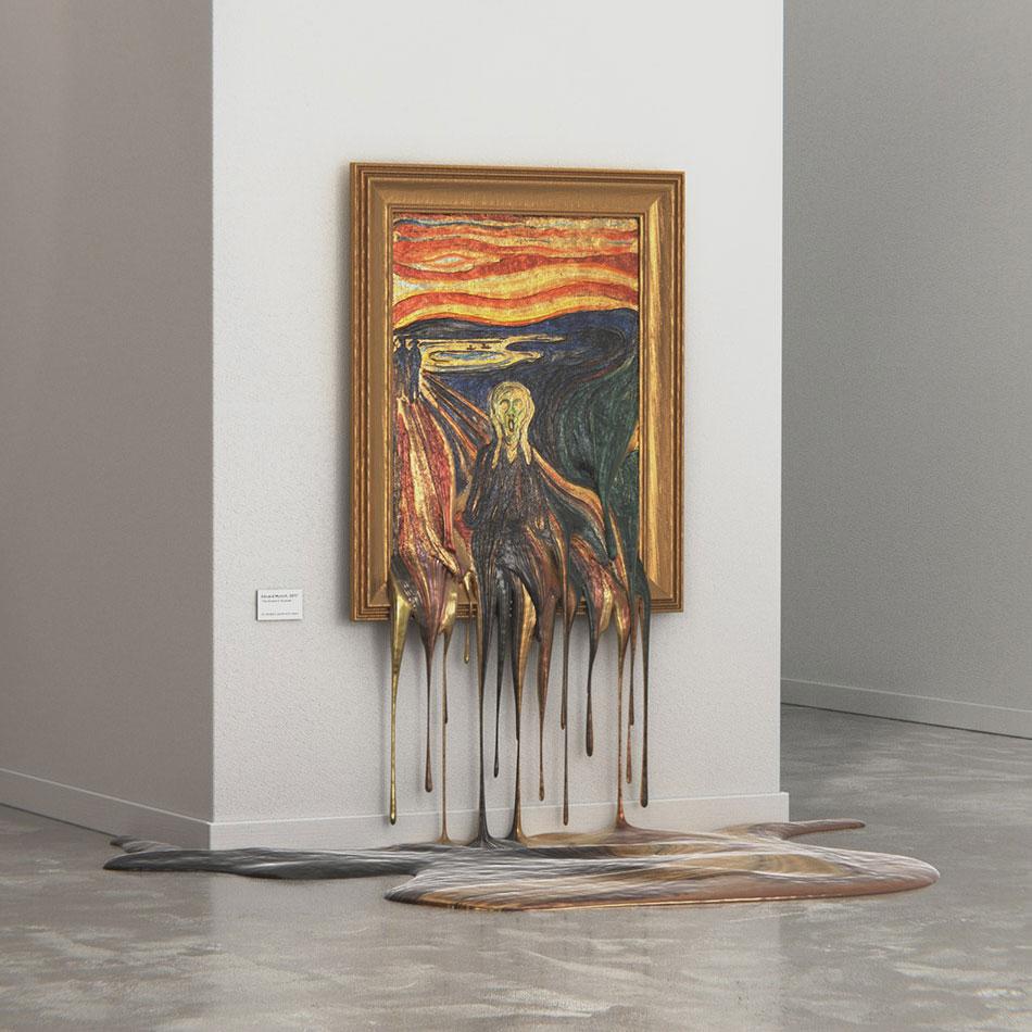 """""""El Grito"""" de Munch se derrite"""