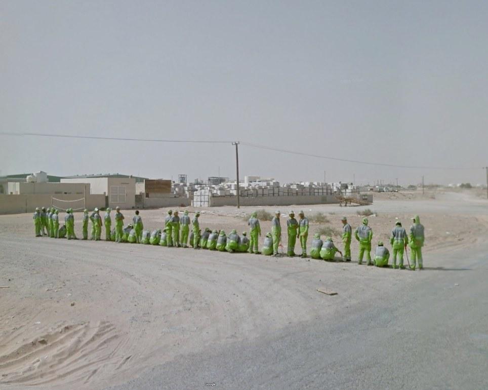Sharjah, Emiratos Árabes Unidos. Google Street View