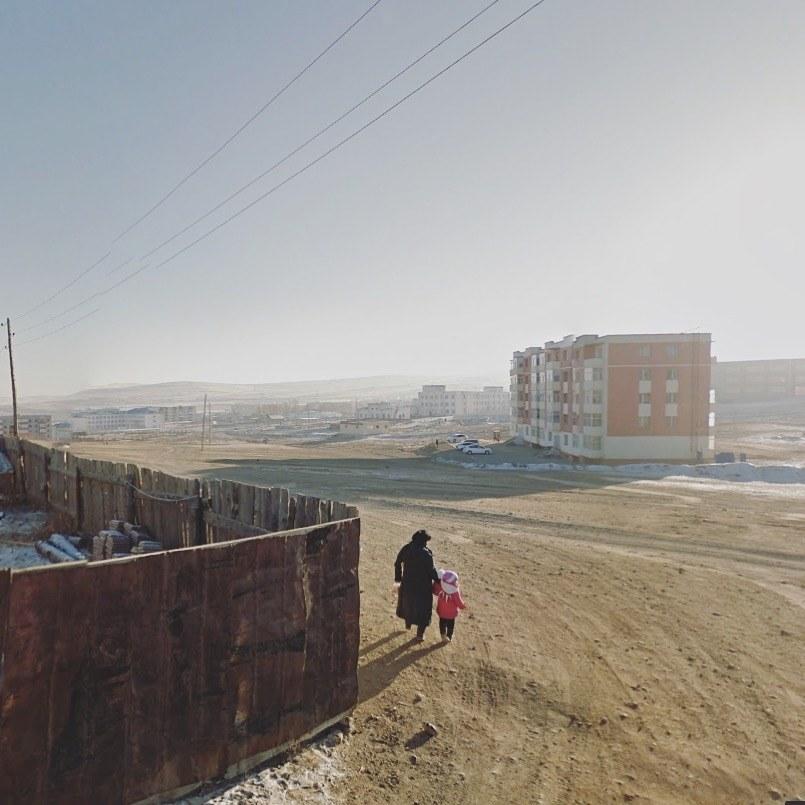 Ulaanbaatar, Mongolia. Google Street View