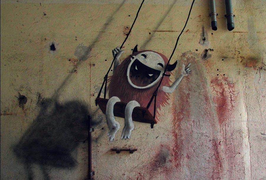 Arte Urbano Monstruoso en lugares abandonados