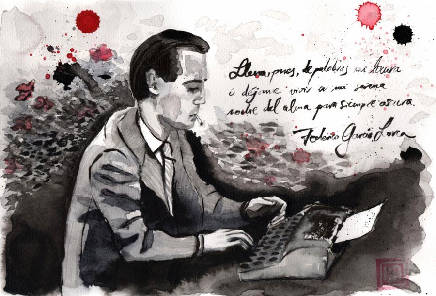 Lorca Ilustrado exposición de Lídia Gázquez