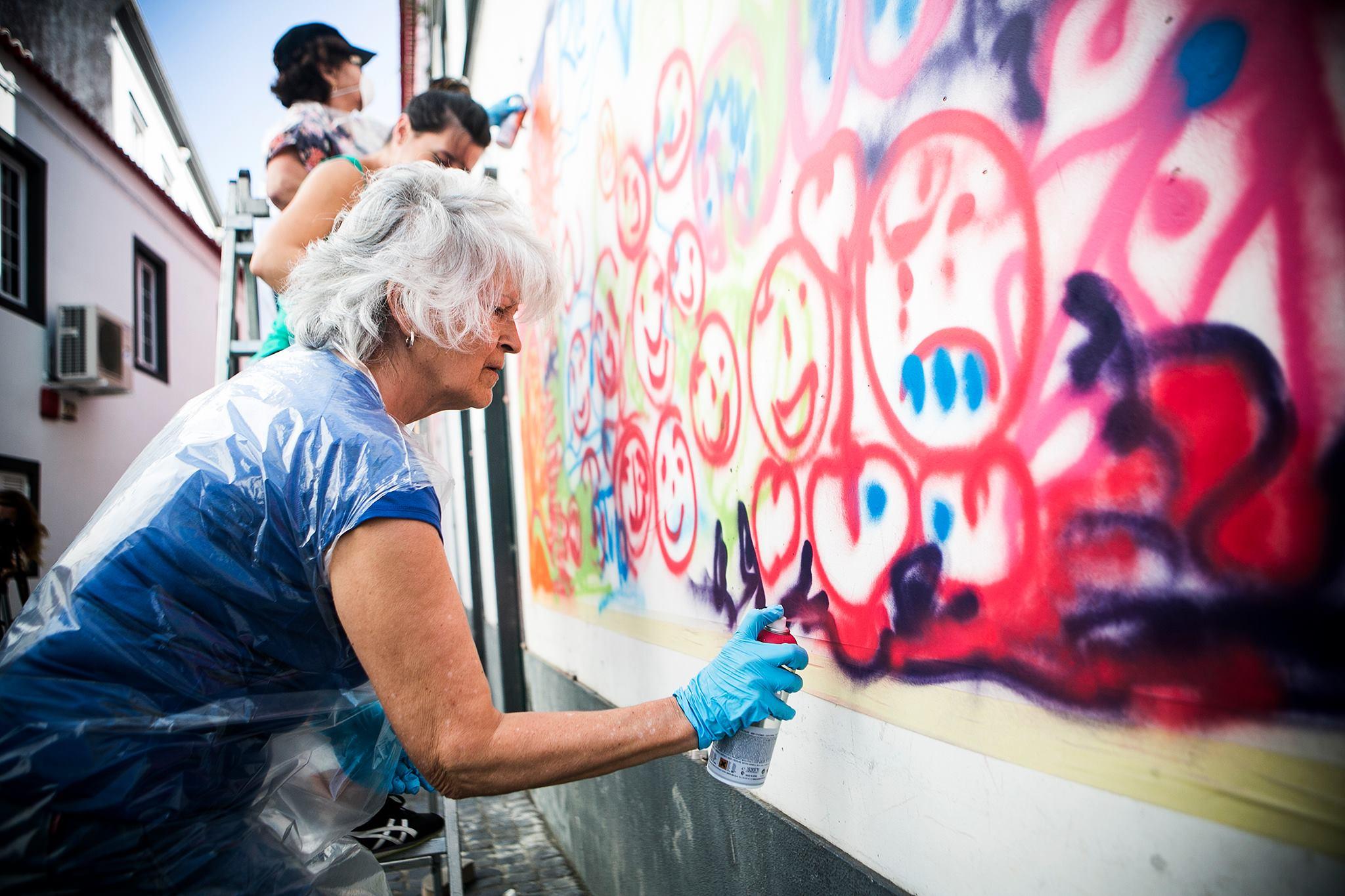 Arte Urbano a la tercera edad en las calles de Lisboa