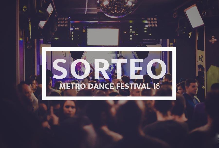 Sorteo Metro Dance Festival
