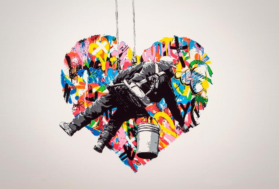 Martin Whatson, arte urbano de la cultura pop
