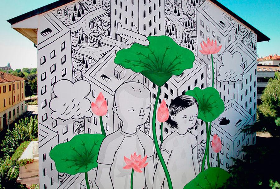 Nuevo mural de Millo en Italia