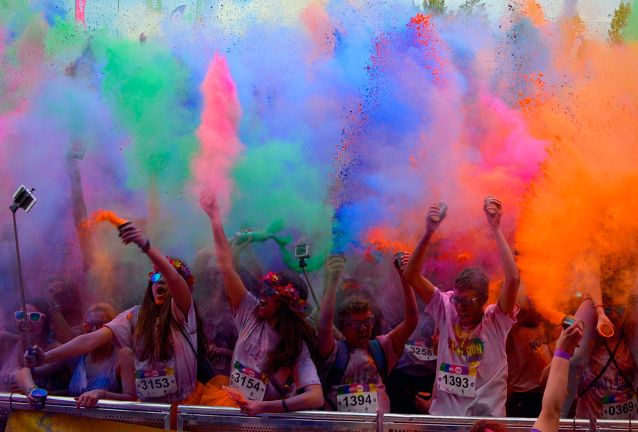 Holi Run, la carrera multicolor llega a Madrid