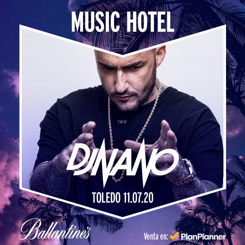 Dj Nano en la nueva fiesta Ballantine´s Music Hotel en Toledo