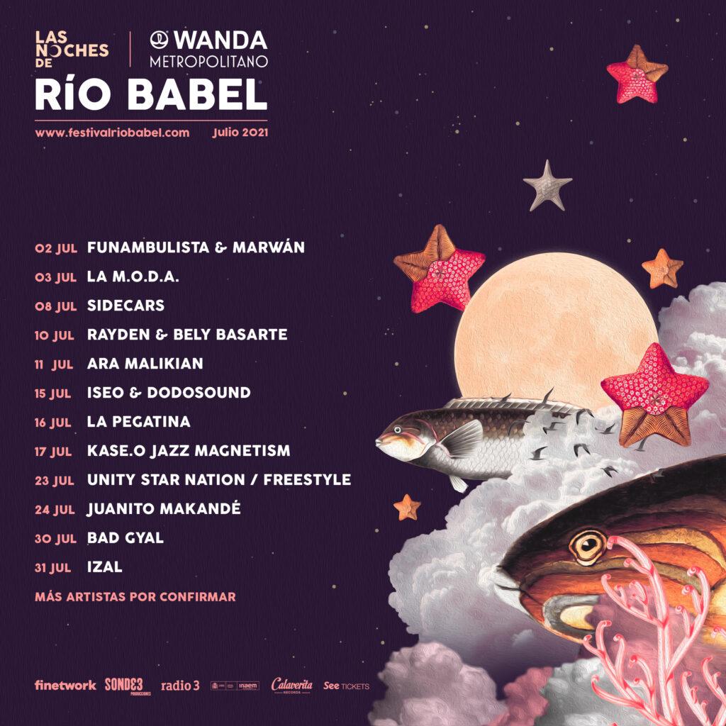 Cartel Las Noches de Rio Babel 2021